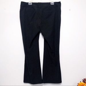 Old Navy Black and White Pinstripe Dress Pants